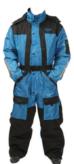 Комбинезон рыболовный Asseri Coverall (до -20С), цвет: синий, черный. 1001-1002. Размер L (52)1001Универсальный костюм-комбинезон Asseri Coverall отлично защитит от влаги и холода людей, предпочитающих зимние походы, рыбалку, активный досуг на природе.Модель используется до температуры -20°C, надежно сохраняя тепло.Комбинезон изготовлен из водонепроницаемого (5000 гр/м2 /24 часа) материала Oxford Neylon.Предусмотрена теплая подкладка (160 г, полиэстер). Боковая молния во всю длину брючин, затягивающийся низ, талия и эластичные манжеты. Есть множество карманов, съемный капюшон с регулируемым козырьком, удобный ремень. Неопреновая изоляция на коленях и сзади; швы герметично проклеены, молнии морозоустойчивы.Система вентиляции находится на спине. Возможность увеличения размера. Стильный, современный дизайн.Воздухопроницаемость: 5000 мм.