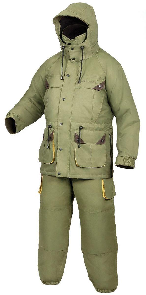 Костюм рыболовный807Зимний костюм для рыбалки эстонской фирмы Arctix под названием Iceberg, состоит из 3-х частей: комбинезона с высокой спинной частью и укрепленным материалом в районе коленей, защищающим против быстрого протирания. Наружной куртки с подстежкой, удобными регулировочными шлевками и большим капюшоном с козырьком. И отдельной нижней куртки из флиса, которую так же можно носить как отдельный предмет в осенне-весенний сезон. Вся одежда для зимней рыбалки фирмы Arctix проходит тестирование в суровых условиях балтийского региона. Где на зимних заливах могут быть температуры от +5 до -30 С, сопровождающиеся сильным ветром, снегом и дождем. Благодаря тому, что для производства костюмов этой серии использовали материал нейлоновая рибоза 3000 с тефлоновым покрытием с высокими свойствами водонепроницаемости(3000 гр/м2-24 часа) и воздухопроницаемости (3000 мм), ощущение комфорта не покидает рыболова ни при каких погодных условиях и видах физических активности. ...