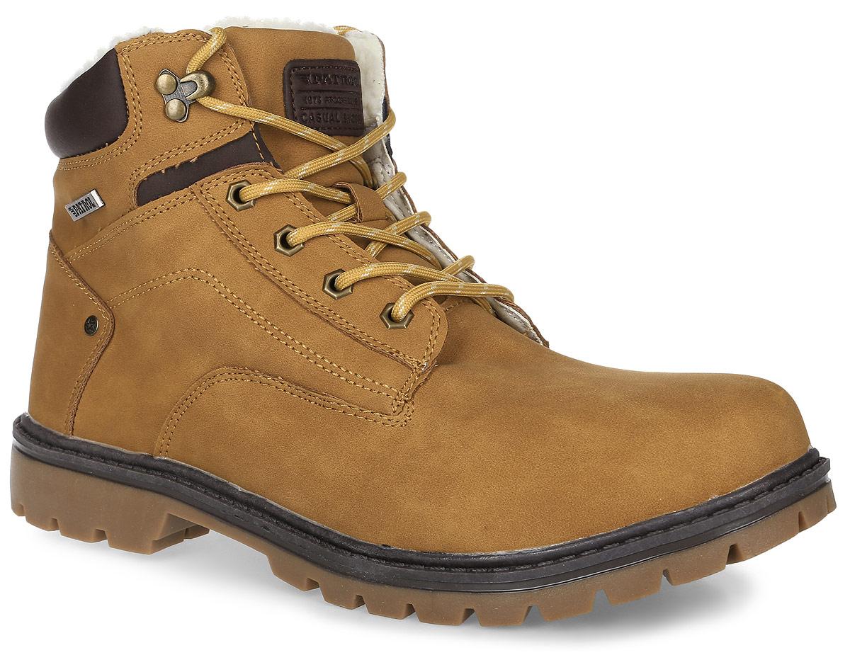 Ботинки463-715IM-17w-04-2Мужские ботинки от Patrol выполнены из искусственного нубука и оформлены на язычке нашивкой с фирменным логотипом бренда. Подкладка, исполненная из искусственного меха, сохранит ваши ноги в тепле. Съемная стелька EVA с поверхностью из искусственного меха обеспечивает отличную амортизацию и максимальный комфорт. Шнуровка позволяет оптимально зафиксировать модель на ноге. Подошва с рельефным протектором, выполненная из термопластичного материала, обеспечивает отличное сцепление с любыми поверхностями.