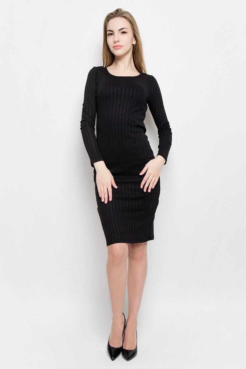 Платье Broadway Saylor, цвет: черный. 10156900_999. Размер S (44)10156900_999Платье Broadway Saylor выполнено из вискозы с добавлением полиэстера и эластана. Модель средней длины с длинными рукавами имеет круглый вырез горловины. Платье дополнено непрозрачной подкладкой из полиэстера.