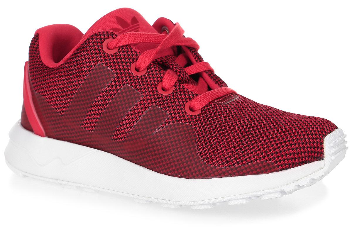 Кроссовки детские Adidas Zx Flux Adv Tech C, цвет: красный. S76431. Размер 33 (21)S76431Детские кроссовки Zx Flux Adv Tech C от Adidas выполнены из текстиля с элементами из резины и термополиуретана. Легкая литая промежуточная подошва из ЭВА сохраняет амортизирующие свойства в течение долгого срока. У модели мягкая текстильная подкладка. Дышащая амортизирующая стелька OrthoLite препятствует распространению бактерий, вызывающих запах, благодаря специальному составу с диметилоктадецил[3-(триметоксисилил)пропил]аммония хлоридом. Резиновая подошва оснащена протектором.
