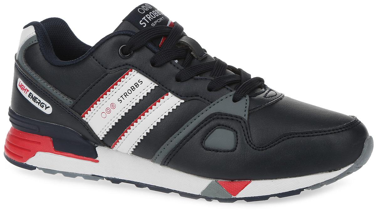 КроссовкиF6437-2Стильные женские кроссовки Strobbs отлично подойдут для активного отдыха и повседневной носки. Верх модели выполнен из синтетической кожи. Удобная шнуровка надежно зафиксирует модель на стопе. Подошва обеспечит легкость и естественную свободу движений. Мягкие и удобные, кроссовки превосходно подчеркнут ваш спортивный образ и подарят комфорт.
