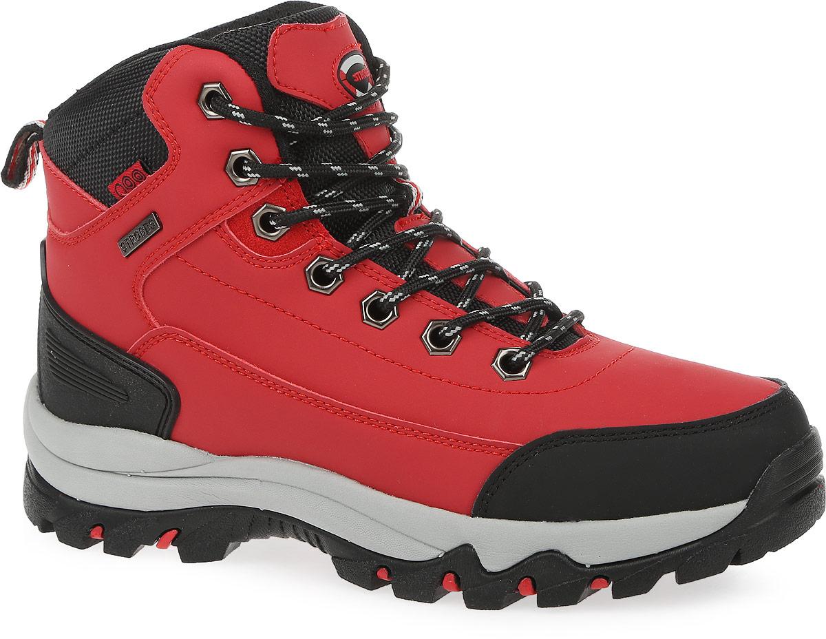 Ботинки женские Strobbs, цвет: красный, черный. F8165-11. Размер 39F8165-11Стильные ботинки от Strobbs придутся вам по душе. Модель изготовлена из искусственной кожи. Подкладка и стелька, выполненные из искусственного меха, не дадут ногам замерзнуть. Шнуровка надежно фиксирует модель на ноге. Ярлычок на заднике обеспечивает удобное обувание модели. Подошва с протектором гарантирует идеальное сцепление на любой поверхности. Стильные и удобные ботинки - необходимая вещь в вашем гардеробе.