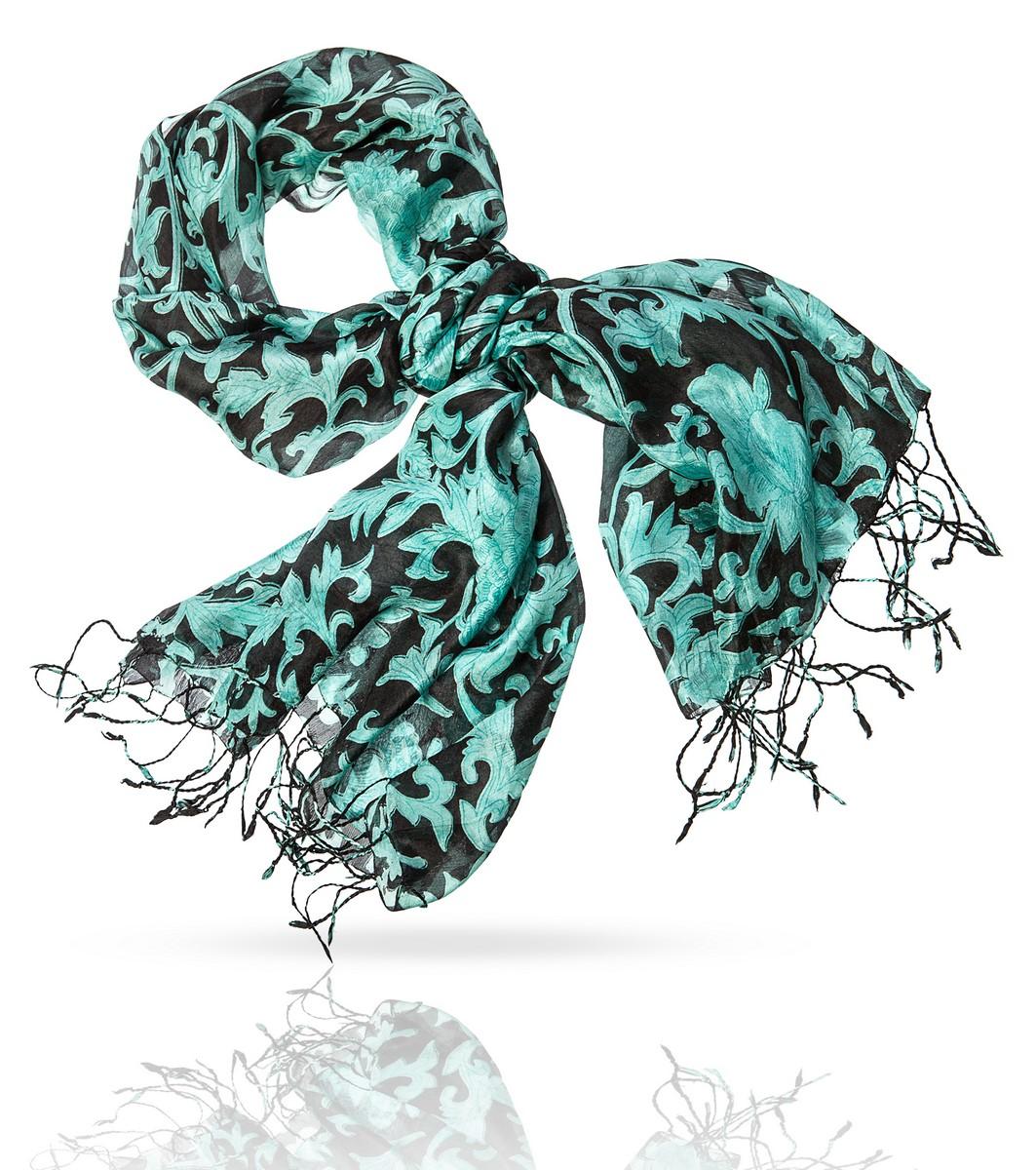 Палантин Michel Katana, цвет: зеленый, черный. S-IVY. Размер 110 см х 180 смS-IVY/BLACKЭтот палантин создан специально для женщин, про которых говорят в ней что-то есть. Энергичный, смелый узор может доминировать, если вы расправите легкое шелковое полотно, или служить яркой деталью, если завязать палантин на шее, на груди или даже на поясе. В любом случае - с этим аксессуаром вы будете неотразимы!