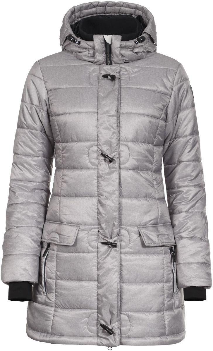 Куртка636459358LV_060Женская куртка Luhta Penny выполнена из полиэстера. Куртка с воротником-стойкой и съемным капюшоном на кнопках застегивается на удобную застежку-молнию спереди и имеет ветрозащитный клапан на кнопках. Капюшон дополнен шнурком-кулиской. Рукава оснащены внутренними трикотажными манжетами. Спереди расположены два втачных кармана на застежках-молниях и два втачных кармана с клапанами на кнопках, под ветрозащитный клапаном расположен втачной карман на застежке-молнии. Низ куртки дополнен эластичным шнурком-кулиской со стопперами.