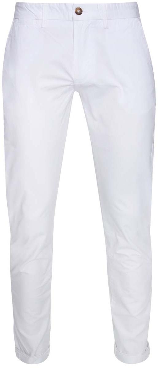 Брюки мужские oodji Lab, цвет: белый. 2L150067M/44264N/1000N. Размер 38-182 (46-182)2L150067M/44264N/1000NМужские брюки oodji Lab выполнены из натурального хлопка. Модель застегивается на пуговицу в поясе и ширинку на молнии. Имеются шлевки для ремня. Спереди расположены два втачных кармана и прорезной кармашек, сзади - два прорезных кармана на пуговицах, а также имитация прорезного кармашка.Изделие сзади оформлено фирменной текстильной нашивкой.При необходимости брюки можно подвернуть.
