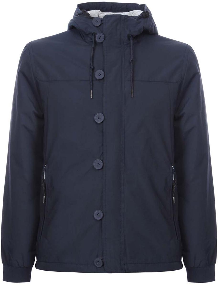 Куртка1L412017M/25276N/7900NСтильная мужская куртка oodji Lab изготовлена из высококачественного полиэстера. В качестве утеплителя используется полиэстер. Основная подкладка и подкладка капюшона изготовлена из сочетания полиэстера с хлопком. Модель с несъемным капюшоном застегивается на застежку-молнию, которая дополнительно имеет верхнюю защитную планку на пуговицах. Капюшон и пояс дополнительно регулируются в размере с помощью внутреннего шнурка. Спереди расположены два втачных кармана на застежках-молниях, с внутренней стороны - прорезной карман на молнии. Манжеты рукавов дополнены трикотажными напульсниками.