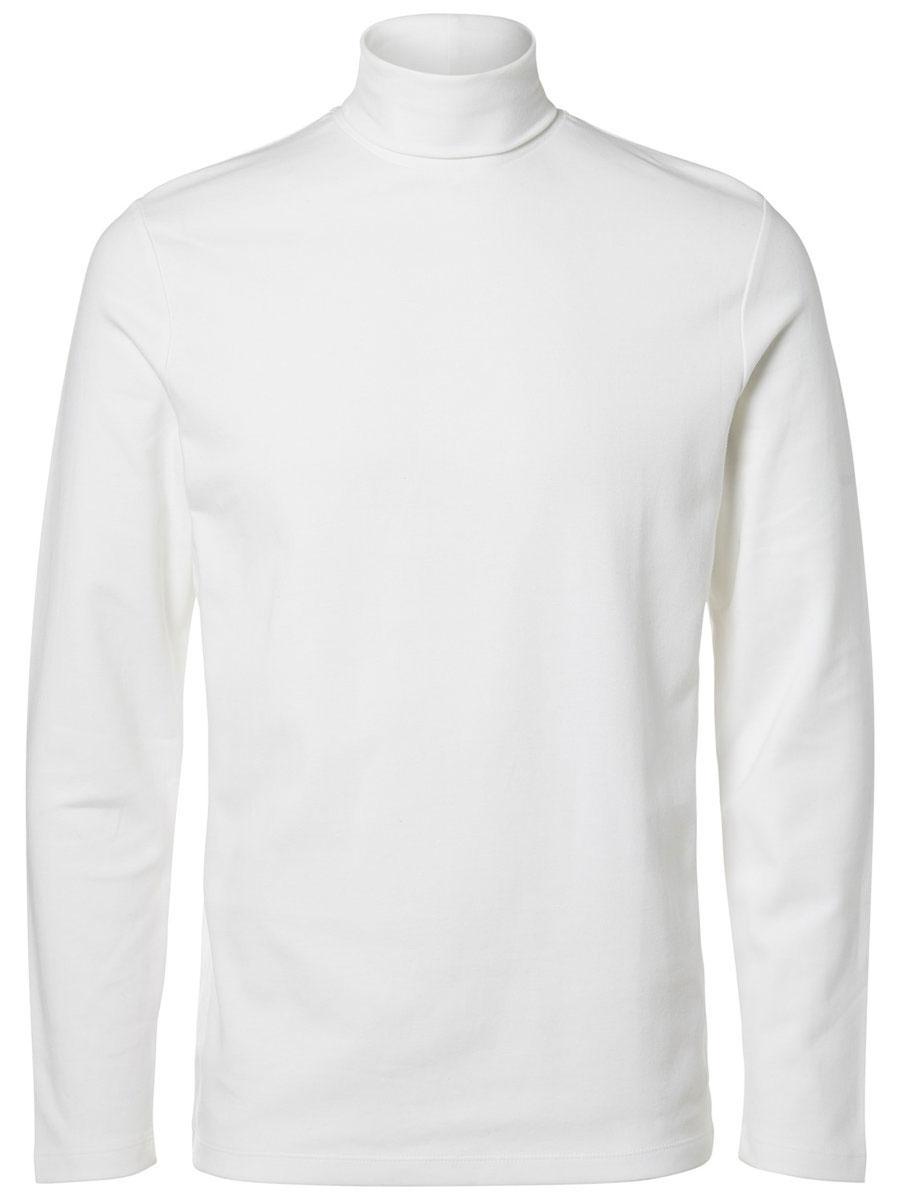 Водолазка16052854_Bright WhiteМодная мужская водолазка Selected Homme Identity изготовлена из натурального хлопка. Модель с воротником-гольф и длинными рукавами выполнена в лаконичном дизайне.