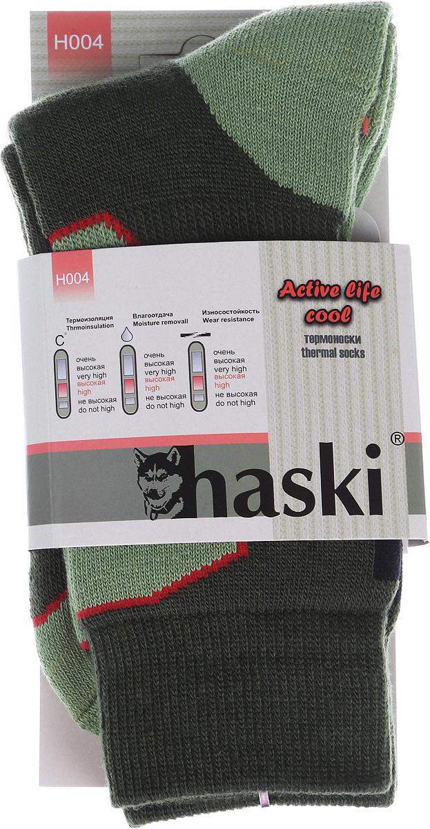 ТермоноскиH004Мужские термоноски Haski предназначены для ежедневного использования в холодную погоду. Модель выполнена из акрила, полиамида, мериносовой шерсти и эластана. Содержащиеся в составе волокна шерсти овец мериносов позволяют максимально сохранить тепло и обеспечивают приятную легкость и дополнительный комфорт. Длина носка подобрана оптимально для наилучшего сохранения тепла. Наличие синтетических нитей заметно повышает износостойкость модели.