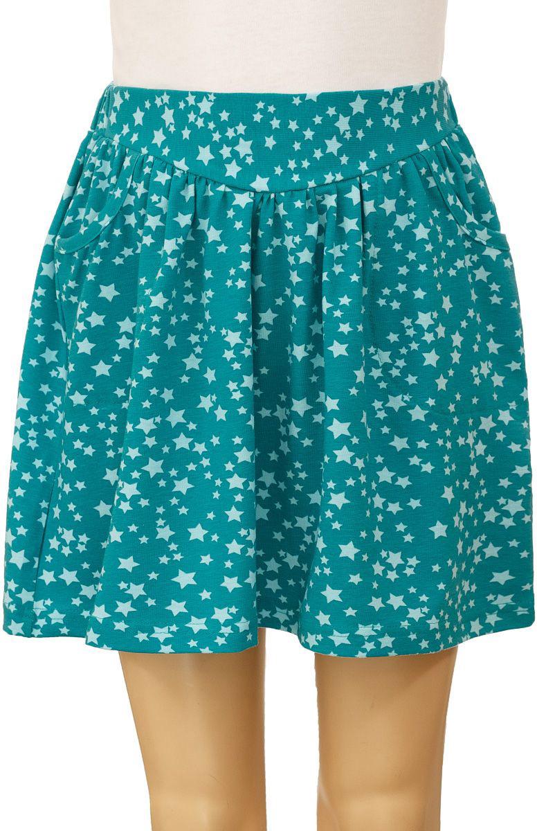 Юбка для девочки M&D, цвет: зеленый, голубой. WJA26019M-13. Размер 98WJA26019M-13Юбка для девочки выполнена из эластичного хлопка. Модель на талии имеет эластичный пояс и дополнена двумя втачными карманами.