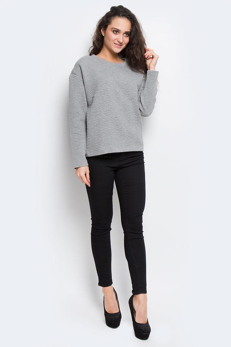 Свитшот16053363_Medium Grey MelangeЖенский свитшот Selected Femme выполнен из полиэстера с добавлением вискозы. Модель с круглым вырезом горловины и длинными рукавами выполнена в лаконичном стиле.