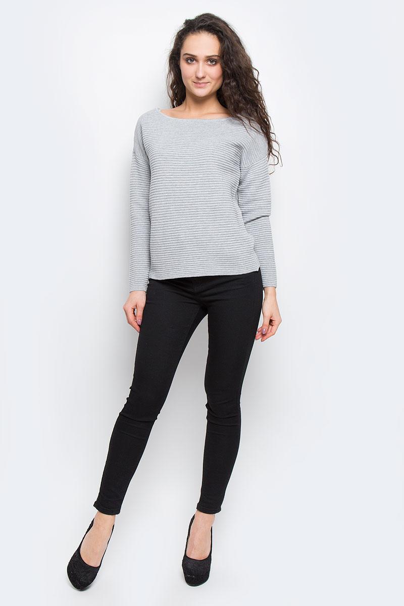 Джемпер16055336_Light Grey MelangeЖенский джемпер Selected Femme выполнен из хлопка и акрила. Модель, с круглым вырезом горловины и длинными рукавами, выполнена в лаконичном стиле.
