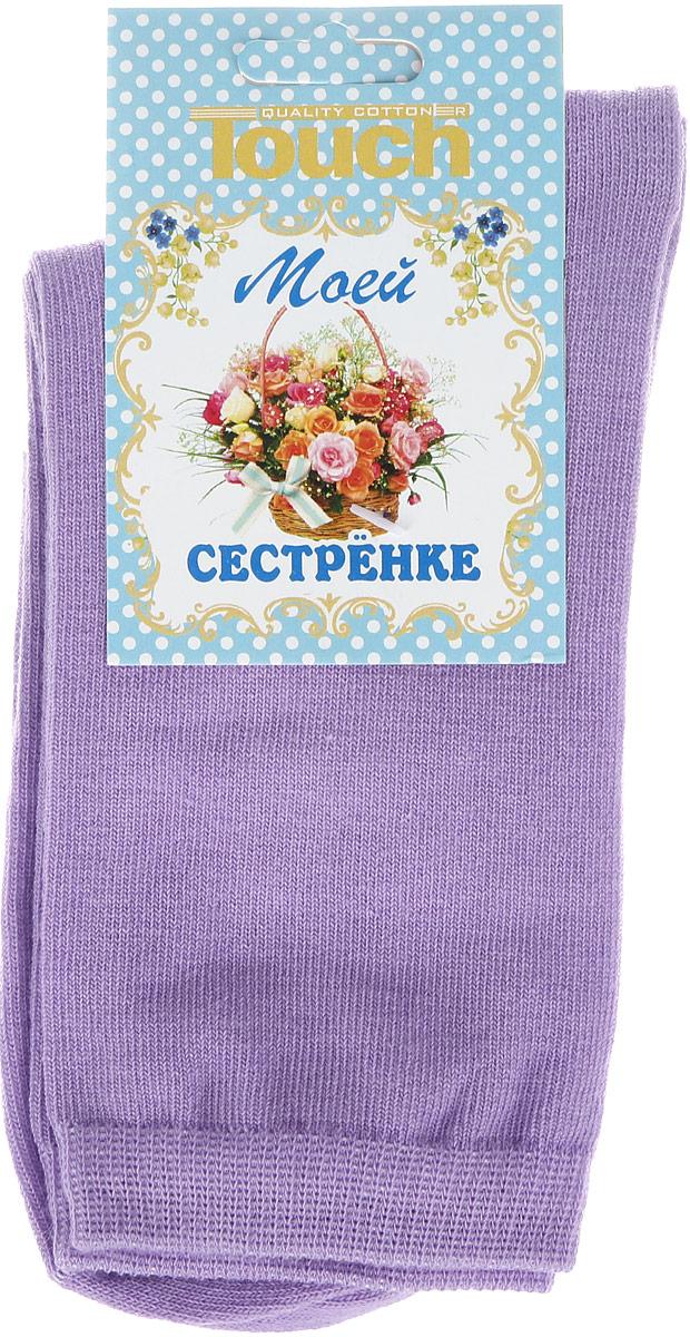 Носки200_СестреКлассические женские носки Touch Gold изготовлены из лучших сортов хлопка с добавлением эластановых волокон, которые обеспечивают повышенную износостойкость и превосходную посадку. Модель со стандартным паголенком оформлена в лаконичном дизайне и дополнена оригинальной этикеткой-открыткой. Такие носочки послужат отличным вариантом для подарка.