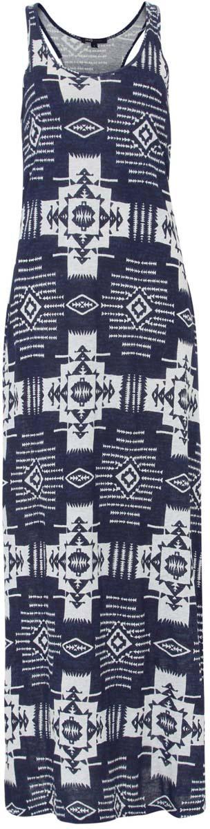 Платье14015006/45412/7920EПлатье oodji Ultra исполнено полностью из натурального хлопка. Изделие имеет длину макси и спинку-борцовку. Оформлено этническим принтом.