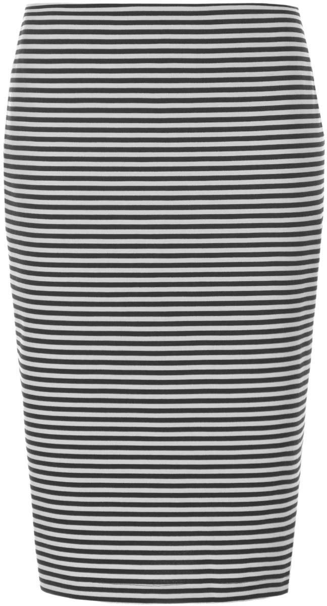 Юбка24100022-1/35477/2910SЮбка oodji Collection выполнена из комбинированного материала. Модель-карандаш застегивается сзади на потайную застежку-молнию. Оформлена юбка стильным полосатым принтом.