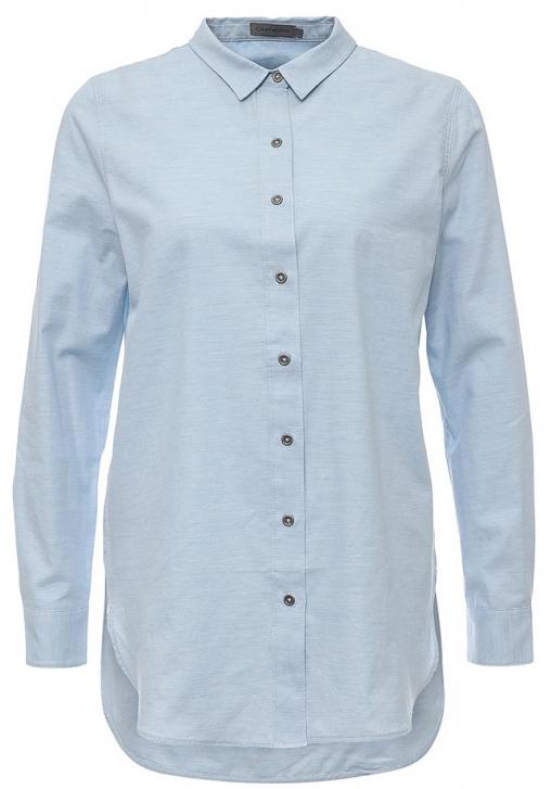 БлузкаJ20J201235_4740Стильная женская блузка Calvin Klein Jeans, выполненная из натурального хлопка, подчеркнет ваш уникальный стиль и поможет создать женственный образ. Удлиненная модель с отложным воротником и длинными рукавами застегивается спереди на металлические пуговицы. Манжеты на рукавах также имеют застежки-пуговицы. Низ блузки имеет круглую форму. По спинке блузка удлинена.