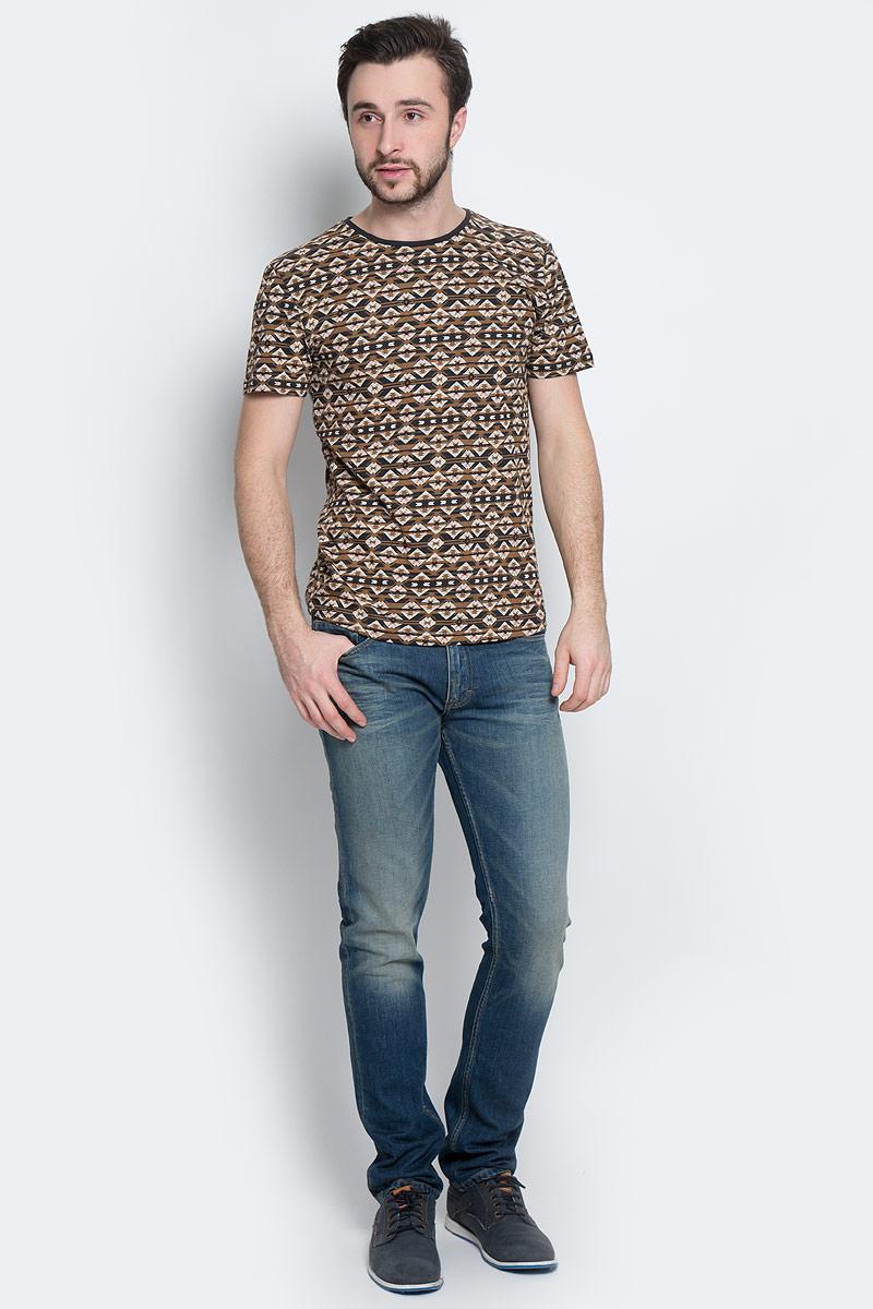 Футболка1036560.02.12_2802Стильная мужская футболка Tom Tailor Denim выполнена из натурального хлопка. Модель с круглым вырезом горловины и короткими рукавами.