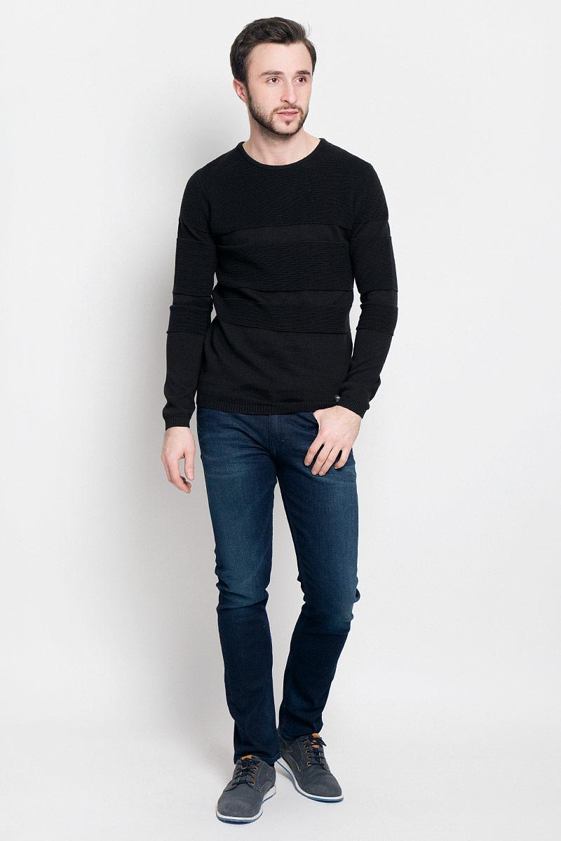 Джемпер3022034.62.12_2608Стильный мужской джемпер Tom Tailor Denim выполнен из натурального хлопка. Модель с круглым вырезом горловины и длинными рукавами. Манжеты рукавов и низ изделия связаны резинкой.