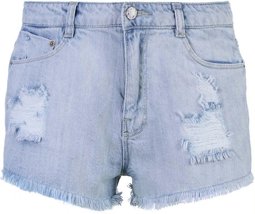 Шорты женские oodji Collection, цвет: голубой джинс. 22807016/42559/7000W. Размер 27 (44)22807016/42559/7000WСтильные женские шорты oodji Ultra изготовлены из натурального хлопка. Шорты застегиваются на металлическую пуговицу и имеют ширинку на застежке-молнии. На поясе предусмотрены шлевки для ремня. Спереди расположены два втачных кармана и один маленький накладной кармашек, сзади - два накладных кармана.