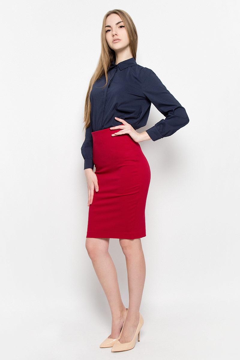 Юбка2400109Классическая юбка-карандаш Ruxara выполнена из плотного джерси. Модель дополнена широкой резинкой по талии. В среднем шве спинки по низу имеется разрез с застежкой на потайную молнию. Элегантная и стильная юбка - идеальное решение на каждый день.