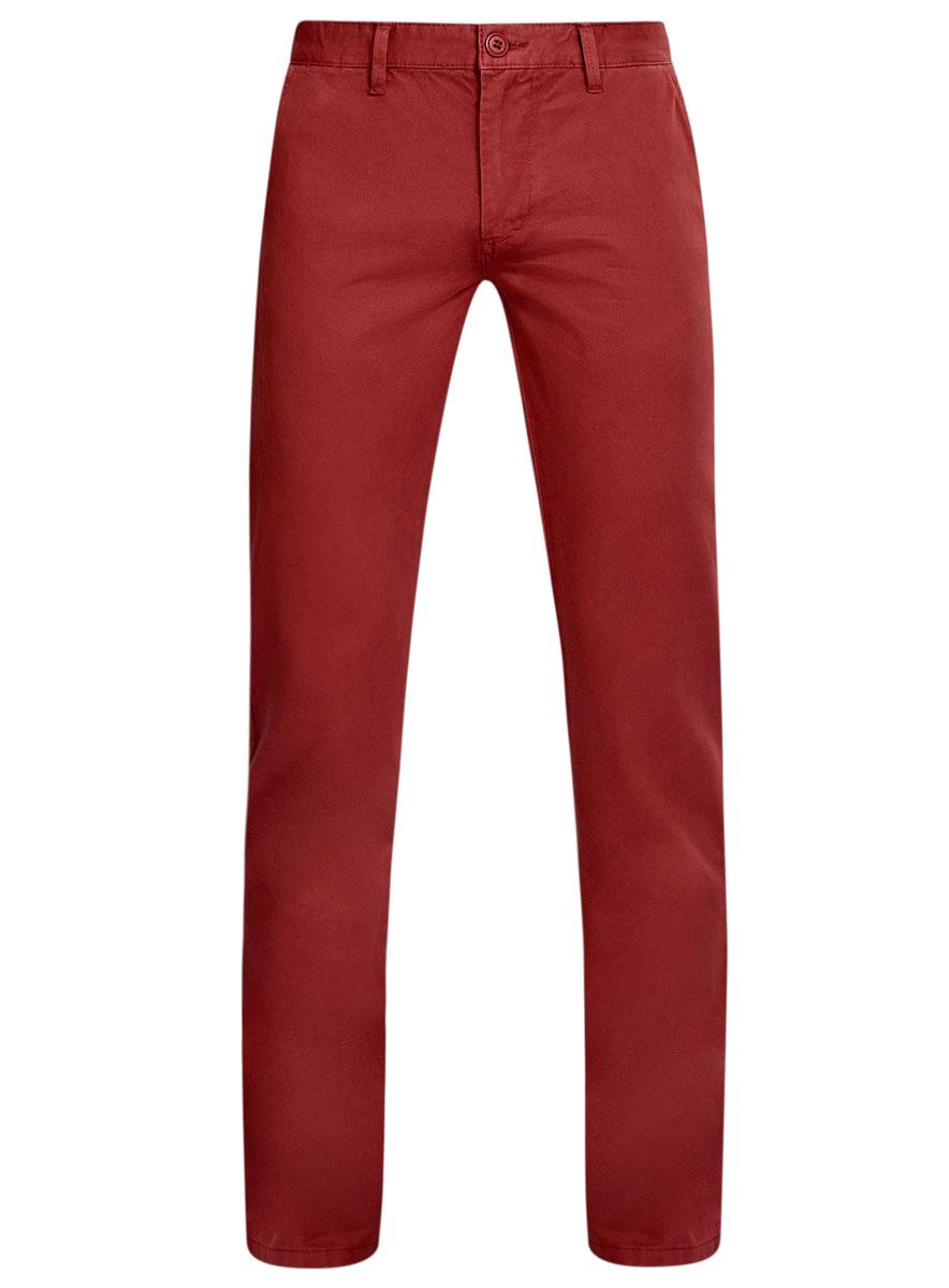 Брюки мужские oodji Basic, цвет: бордовый. 2B150007M/39138N/3100W. Размер 38-182 (46-182)2B150007M/39138N/3100WМужские брюки oodji Basic выполнены из натурального хлопка. Модель застегивается на пуговицу в поясе и ширинку на молнии. Имеются шлевки для ремня. Спереди расположены два втачных кармана и прорезной кармашек, сзади - два прорезных кармана на пуговицах.
