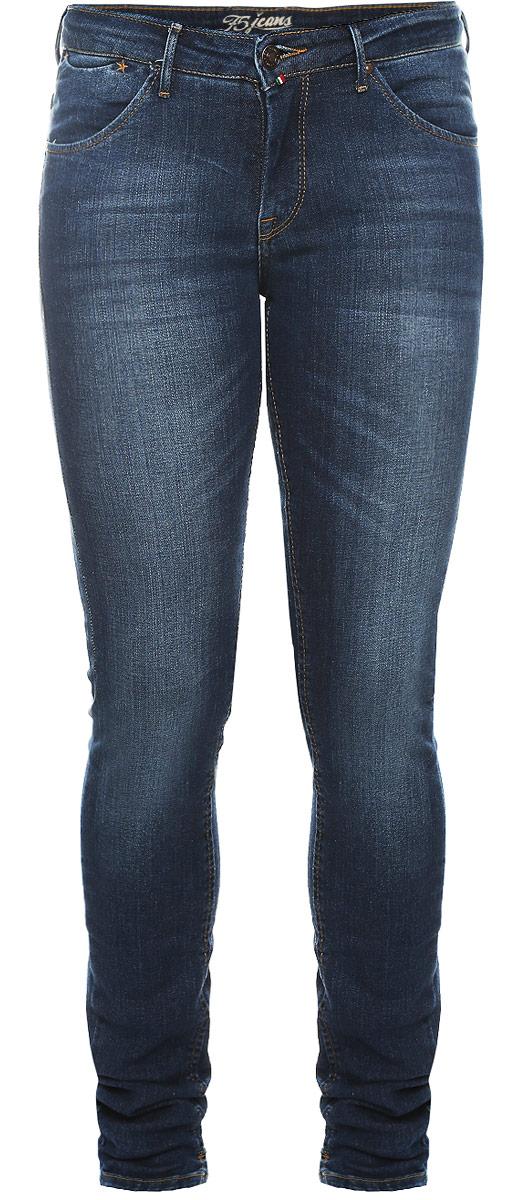 Джинсы женские F5 Paris, цвет: синий. 19561_w.medium. Размер 29-32 (44/46-32)19561_w.mediumСтильные женские джинсы F5 Paris выполнены из хлопка с добавлением эластана. Материал мягкий и приятный на ощупь, не сковывает движения и позволяет коже дышать.Джинсы-скинни средней посадки застегиваются на пуговицу в поясе и ширинку на застежке-молнии. На поясе предусмотрены шлевки для ремня. Спереди модель оформлена двумя втачными карманами и одним маленьким прорезным кармашком, а сзади - двумя накладными карманами. Модель оформлена эффектом потертости, перманентными складками и контрастной прострочкой. Нижняя часть модели по внутреннему шву дополнена небольшими разрезами.