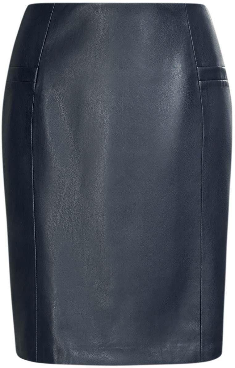 Юбка11605072/43027/7900NЮбка oodji Ultra изготовлена из качественной искусственной кожи. Узкая юбка застегивается сзади на скрытую молнию. Спереди имеются две планки от карманов-обманок, сзади по центру расположена шлица.