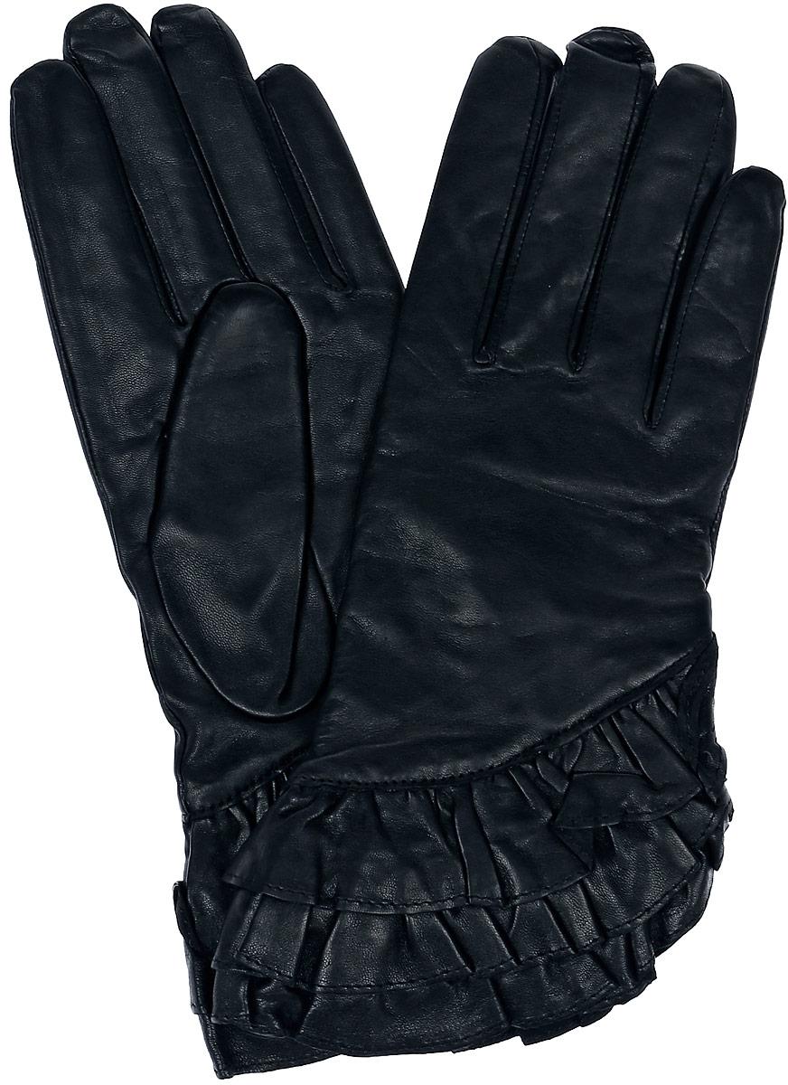 Перчатки11_FLAME/BLЖенские перчатки Dali Exclusive не только защитят ваши руки, но и станут великолепным украшением. Перчатки выполнены из натуральной кожи, а их подкладка - из высококачественной шерсти.