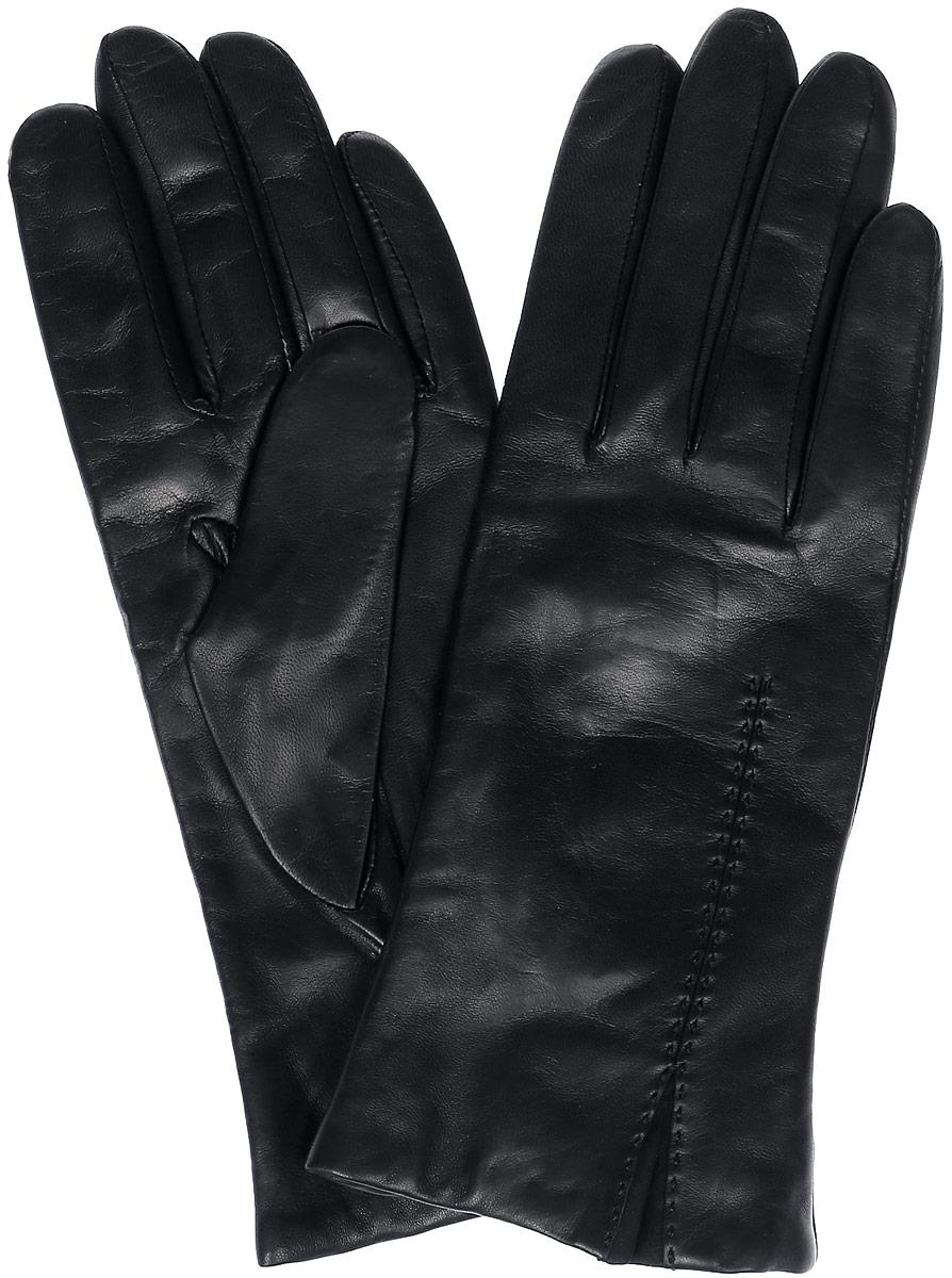 Перчатки женские Michel Katana, цвет: черный. K11-ACILY. Размер 7,5K11-ACILY/BLЖенские перчатки Michel Katana не только защитят ваши руки, но и станут великолепным украшением. Перчатки выполнены из натуральной кожи, а подкладка - из высококачественной шерсти. Модель оформлена декоративными прострочками.
