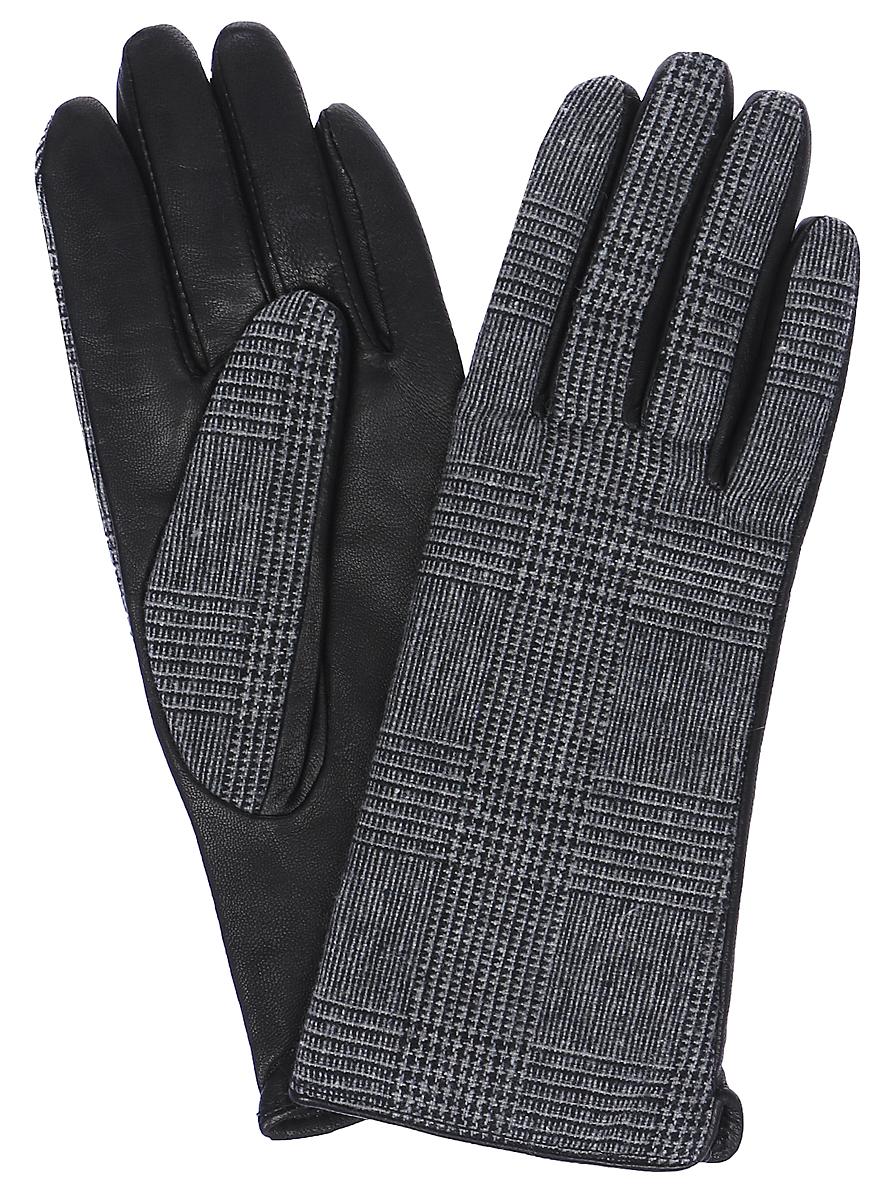 ПерчаткиLB-02066Женские перчатки Labbra выполнены из натуральной кожи и текстиля с оригинальным принтом. Мягкая подкладка выполнена из шерсти с добавлением акрила.