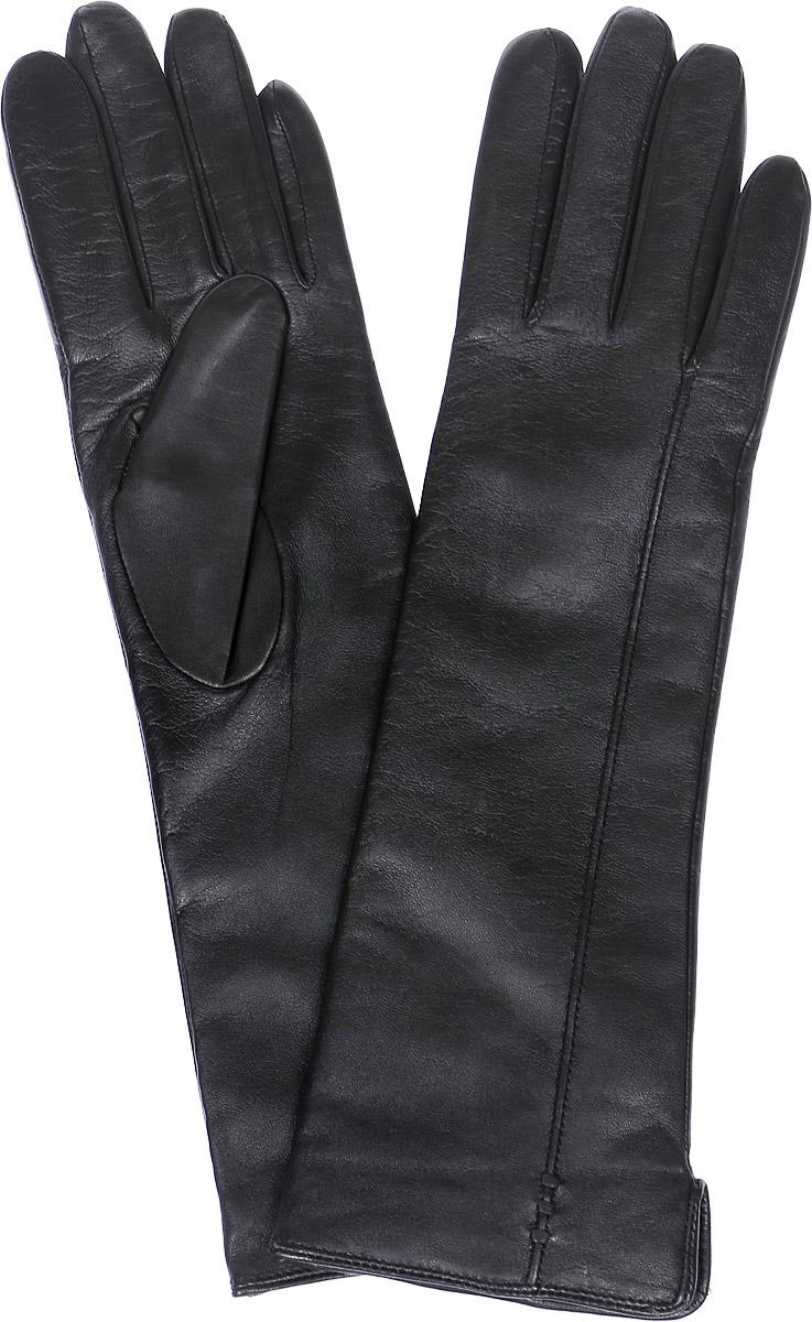 Перчатки женские Labbra, цвет: черный. LB-0195. Размер 6LB-0195Стильные женские перчатки Labbra выполнены из натуральной кожи и дополнены эластичными резинками, которые надежно зафиксируют модель на запястье. Удлиненная модель оформлена декоративной прострочкой. Внутренняя поверхность выполнена из шерсти и акрила, которые обеспечат тепло и комфорт.