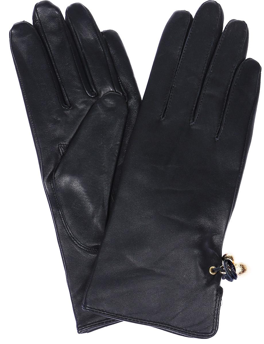 ПерчаткиLB-4047Женские перчатки Labbra выполнены из натуральной кожи. Внутренняя поверхность модели изготовлена из шерсти и акрила, которые обеспечат тепло и комфорт. Оформлены перчатки декоративным разрезом с кожаным бантиком и фурнитурой.