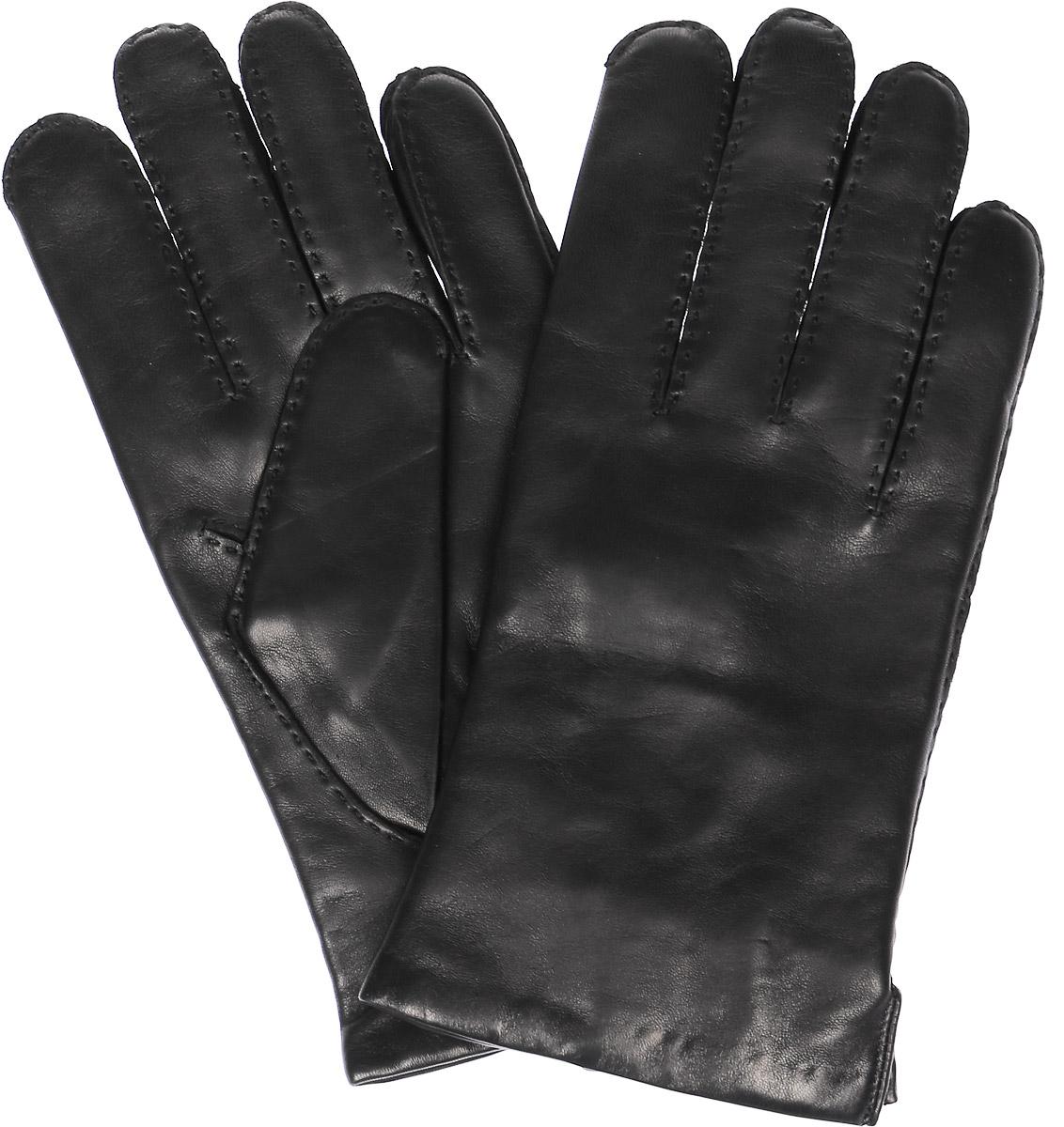 Перчатки мужские Michel Katana, цвет: черный. K11-PORINGE. Размер 9,5K11-PORINGE/BLМужские перчатки Michel Katana не только защитят ваши руки, но и станут великолепным украшением. Перчатки выполнены из натуральной кожи, а подкладка - из высококачественной шерсти.
