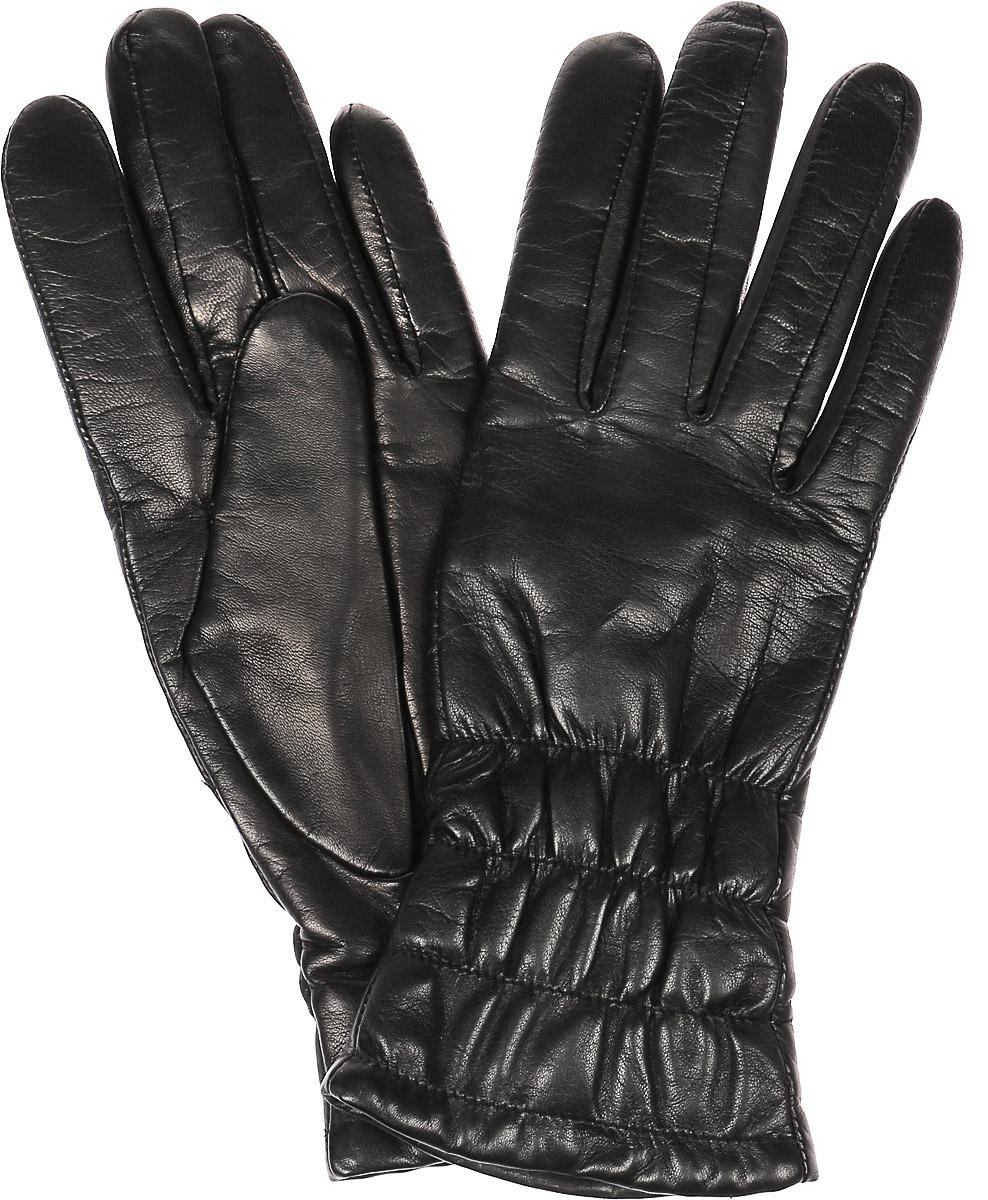 Перчатки11_PLIA/BLЖенские перчатки Dali Exclusive не только защитят ваши руки, но и станут великолепным украшением. Перчатки выполнены из натуральной кожи, а подкладка - из высококачественной шерсти. Модель оформлена эластичными прострочками.