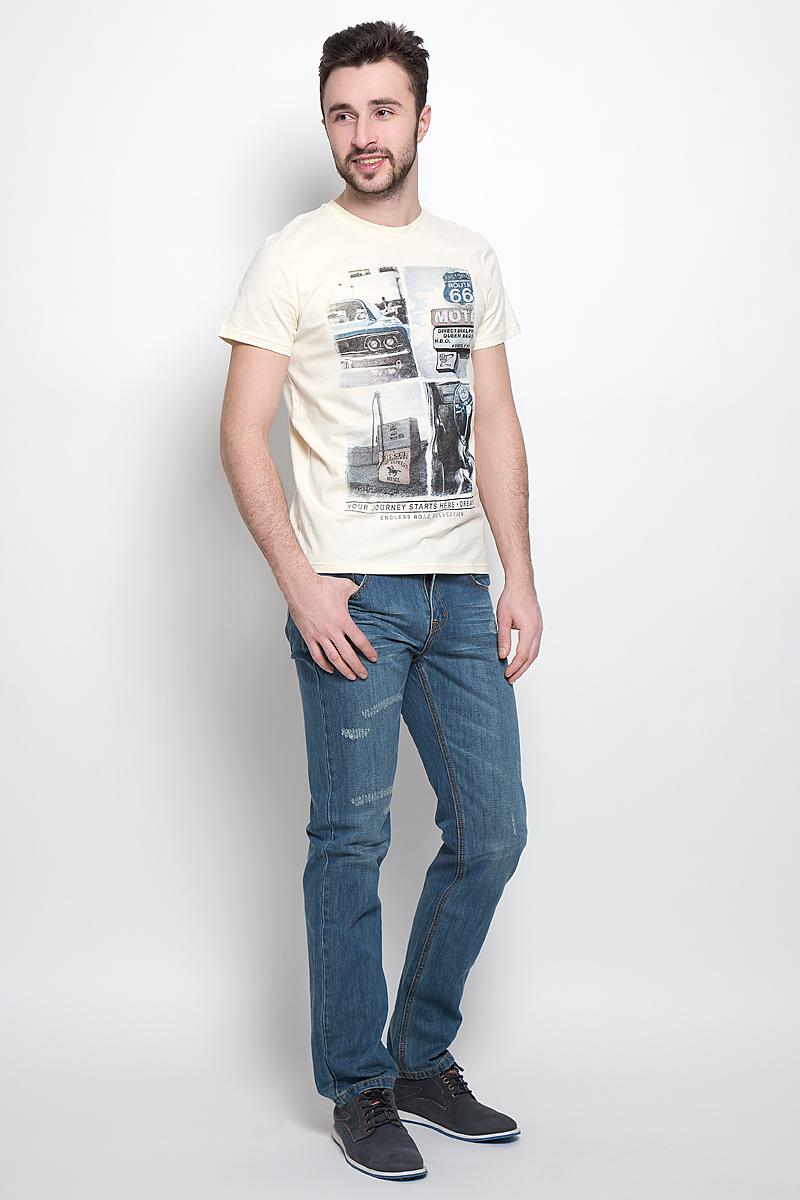 ФутболкаTs-211/2031-7120Стильная мужская футболка Sela Casual Wear выполнена из натурального хлопка. Модель с круглым вырезом горловины и короткими рукавами.