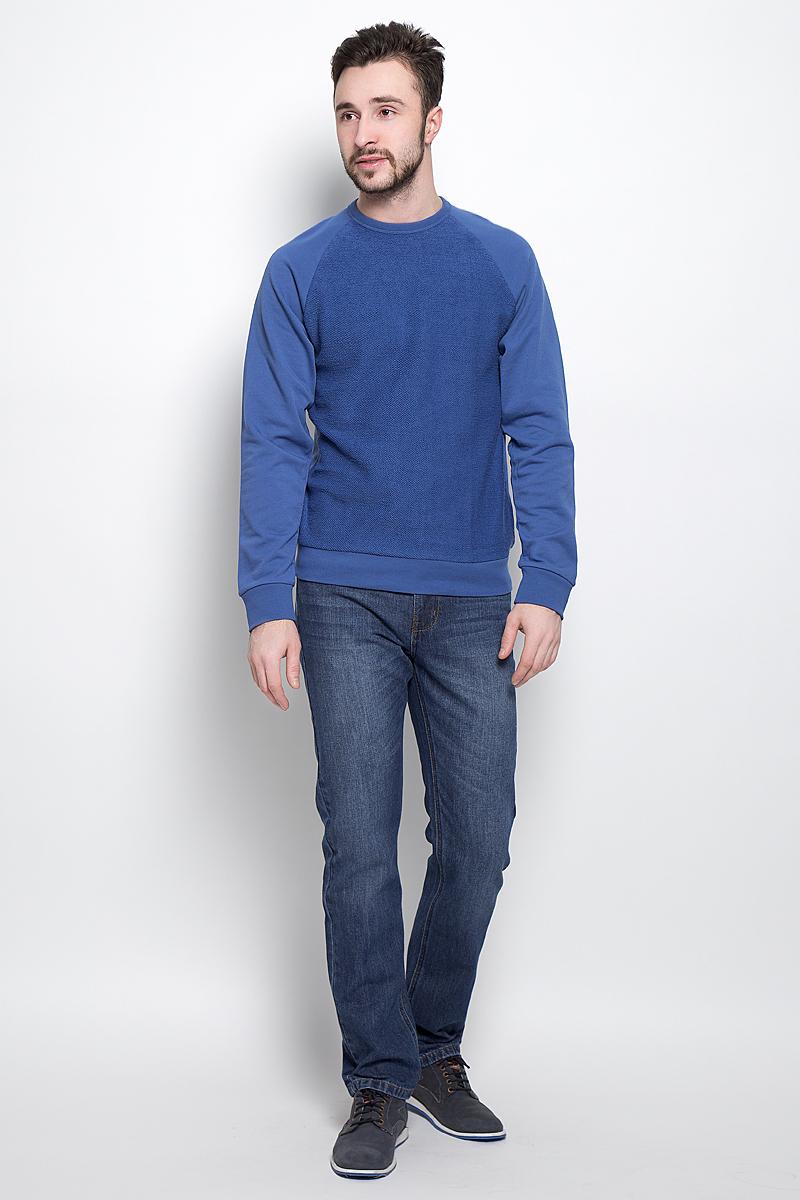 СвитшотSt-213/826-7120Стильный мужской свитшот Sela Casual Wear выполнен из хлопка с добавлением полиэстера. Модель с круглым вырезом горловины и длинными рукавами-реглан.