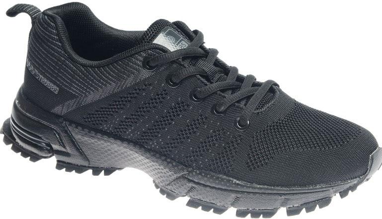 Кроссовки женские Strobbs, цвет: чeрный. F6479-3. Размер 39F6479-3Стильные женские кроссовки Strobbs отлично подойдут для активного отдыха и повседневной носки. Верх модели выполнен из текстиля по бесшовной технологии. Удобная шнуровка надежно фиксирует модель на стопе. Толстая, протекторная подошва позволяет комфортно ощущать себя на каменистой поверхности. Промежуточный слой подошвы выполнен из ЭВА-материала, что позволяет снизить вес обуви.