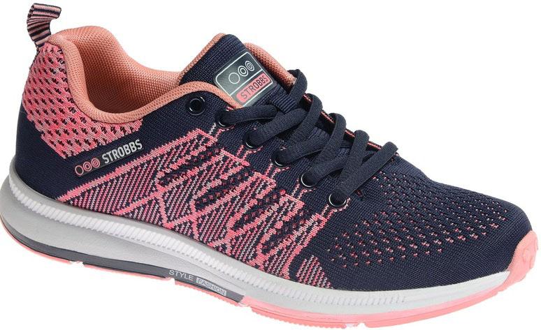 Кроссовки женские Strobbs, цвет: розовый, черный. F6503-11. Размер 38F6503-11Стильные мужские кроссовки Strobbs отлично подойдут для активного отдыха и повседневной носки. Верх модели выполнен из текстиля по бесшовной технологии. Удобная шнуровка надежно фиксирует модель на стопе. Подошва обеспечивает легкость и естественную свободу движений. Мягкие и удобные, кроссовки превосходно подчеркнут ваш спортивный образ и подарят комфорт.