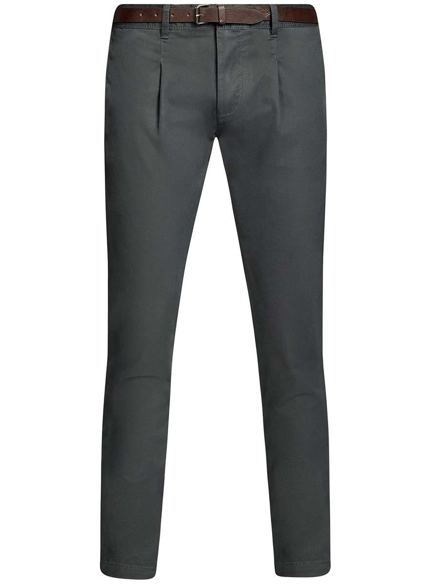 Брюки2L150094M/46240N/2500NМужские брюки oodji Lab выполнены из высококачественного материала. Модель-чинос стандартной посадки застегивается на пуговицу в поясе и ширинку на застежке-молнии. Пояс имеет шлевки для ремня. Спереди брюки дополнены втачными карманами, сзади - прорезными на пуговицах.