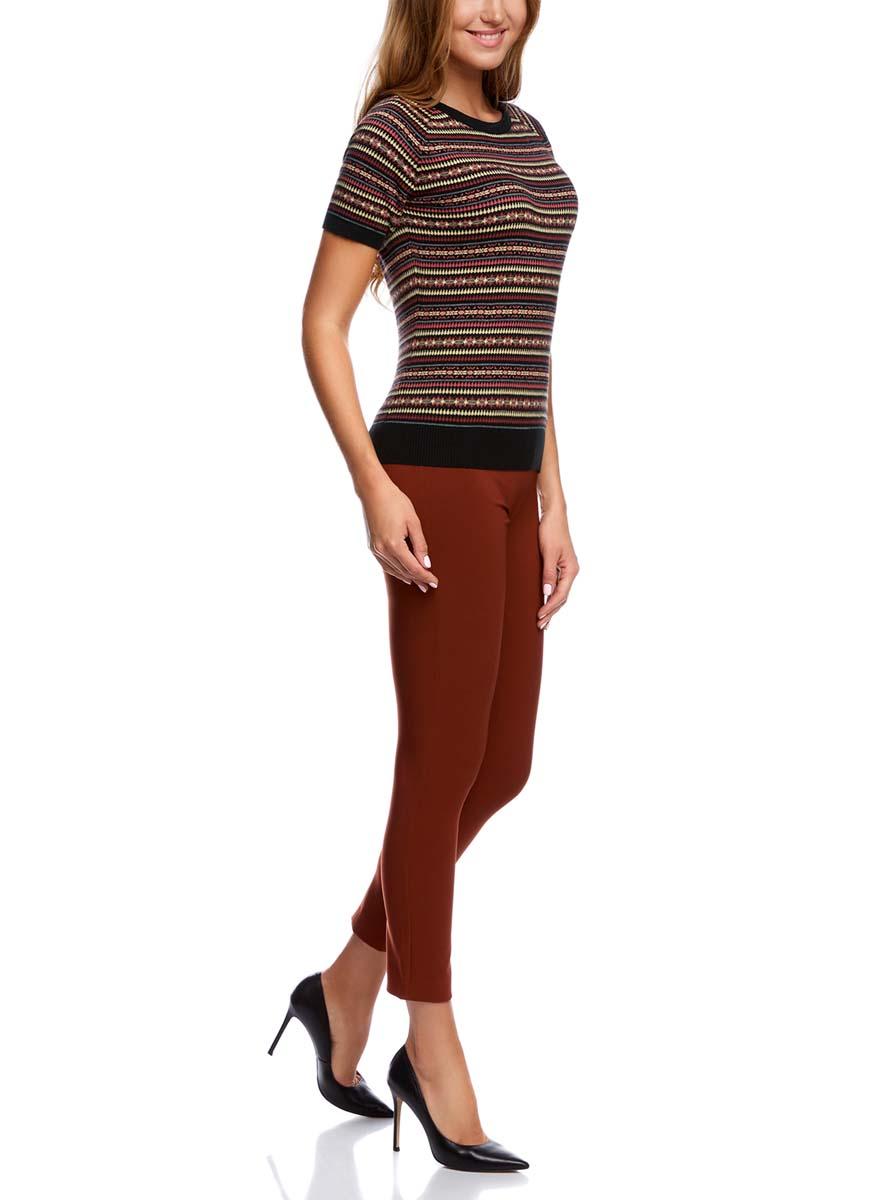 Джемпер63812380-5/43303/2919EУютный женский джемпер с круглым вырезом горловины и короткими рукавами-реглан выполнен из хлопкового материала. .