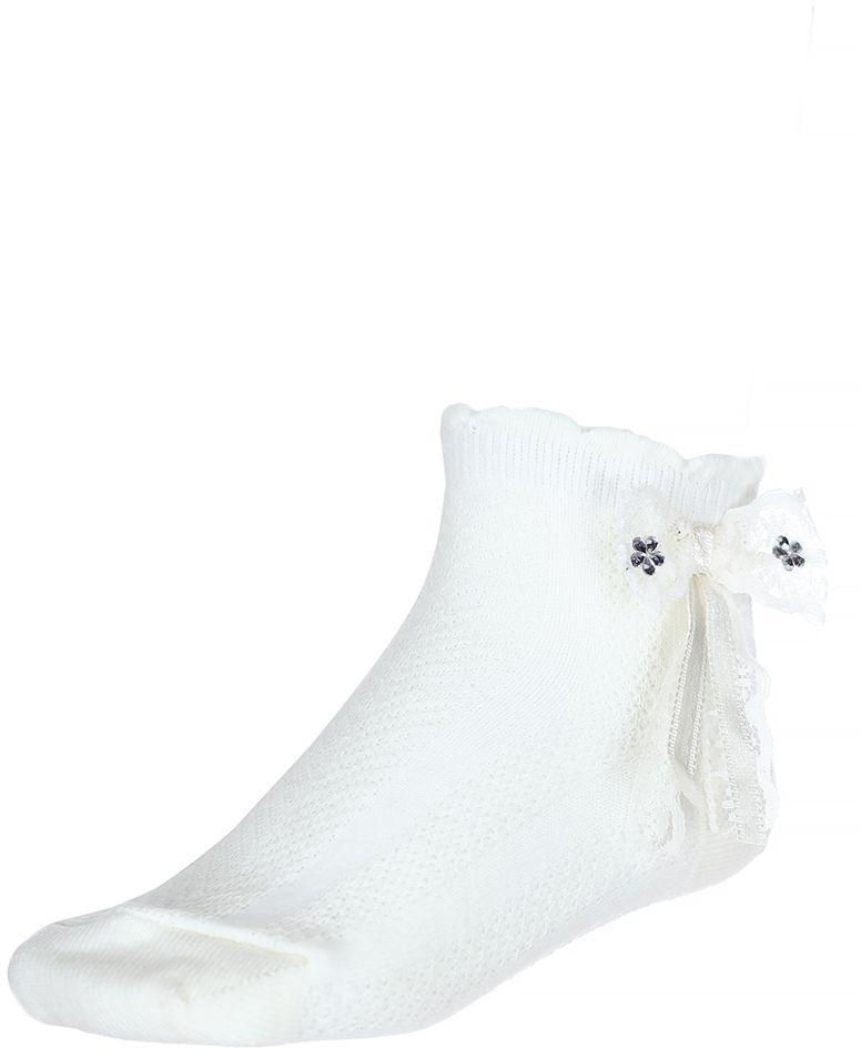 Комплект носков200313-1Носки для девочки Baykar выполнены из высококачественного эластичного хлопка с добавлением полиамида, мягкого и нежного на ощупь. Эластичная резинка в паголенке плотно облегает ногу, не сдавливая ее, обеспечивая комфорт и удобство. Носки дополнены бантиком со стразами. В комплект входит 2 пары.