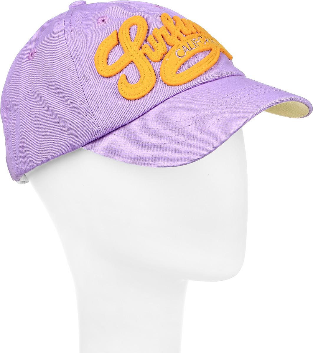 Бейсболка Canoe Spare, цвет: фиолетовый, желтый. 1966486. Размер 561966486Стильная бейсболка Canoe Spare, изготовленная из 100% хлопка, идеально подойдет для активного отдыха и обеспечит надежную защиту головы от солнца. Бейсболка имеет перфорацию, обеспечивающую дополнительную вентиляцию. Спереди бейсболка оформлена объемной нашивкой в виде декоративной надписи. Низ козырька оформлен контрастным цветом. Объем изделия регулируется благодаря ремешку с зажимом, оформленным вырубкой в виде листа. Такая бейсболка станет отличным аксессуаром для занятий спортом или дополнит ваш повседневный образ.