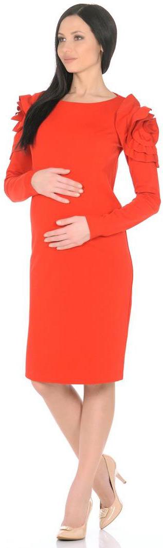 Платье5209522177Платье Mammy Size прилегающего силуэта, длиной до середины колен. Рукава длинные, сверху украшены рюшами. Спинка со швом посередине, с потайной застежкой-молнией.