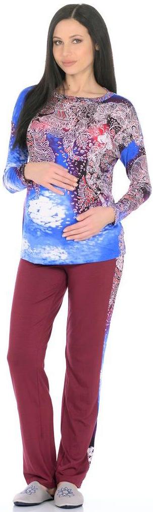Домашний комплект168692175Удобный и красивый домашний костюм для беременных Mammy Size, изготовленный из вискозы и эластана, состоит из лонгслива и брюк. Лонгслив с длинными рукавами и круглым вырезом горловины. Универсальность этого комплекта заключается в том, что его можно носить как во время беременности, так и после рождения ребенка. Резинка на брюках устроена так, что во время беременности она находится под животом.