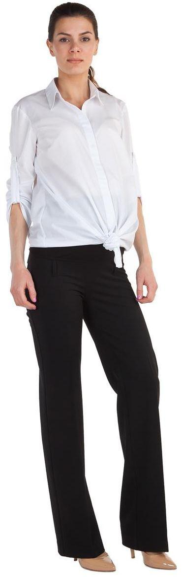 Брюки1340321719Брюки для беременных Mammy Size выполнены из вискозы, полиэстера и спандекса. Плотные, свободные классические брюки с удобной резинкой.