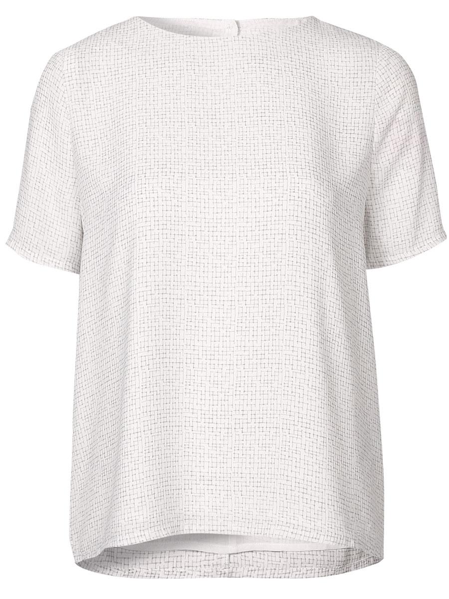Блузка16054002_Dark SapphireЖенская блузка Selected Femme с короткими рукавами и круглым вырезом горловины выполнена из полиэстера. Блузка имеет свободный крой и застегивается на пуговицы на спинке.
