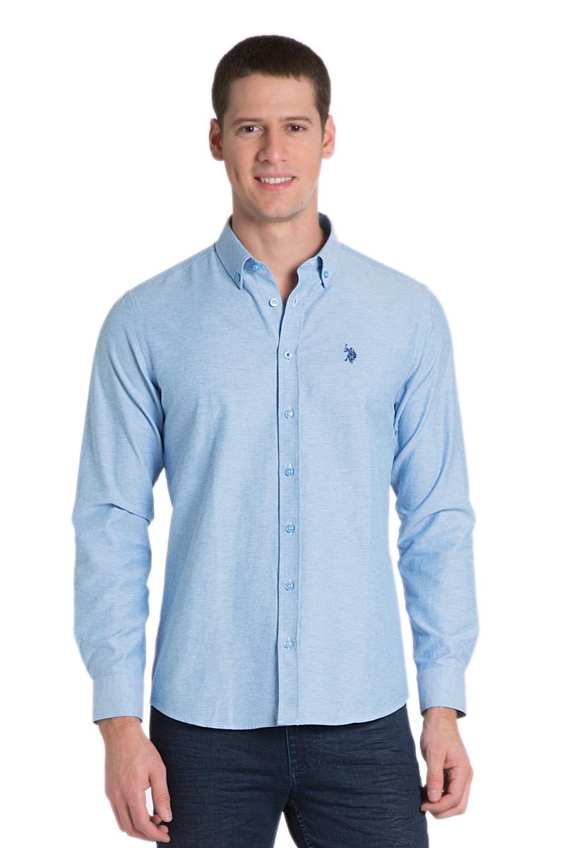 РубашкаG081GL004AVILGOX/16_MV0391Стильная мужская рубашка с длинными рукавами и отложным классическим воротником выполнена из хлопкового материала. Модель застегивается на пуговицы.