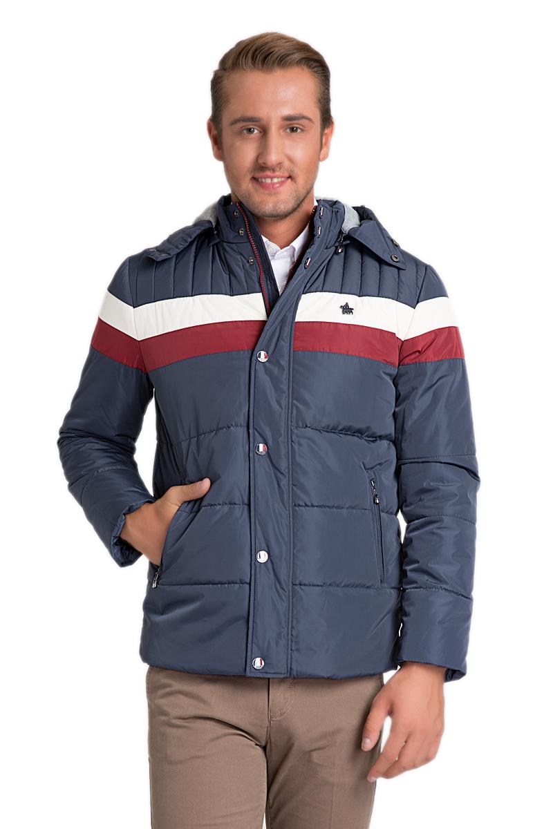 КурткаG081SZ0MSPEMSNOOPK15_VR033Стильная мужская куртка с воротником-стойкой и капюшоном застегивается на молнию. Имеется внешняя ветрозащитная планка на кнопках. капюшон пристегивается при помощи молнии. Модель дополнена прорезными карманами на молниях.