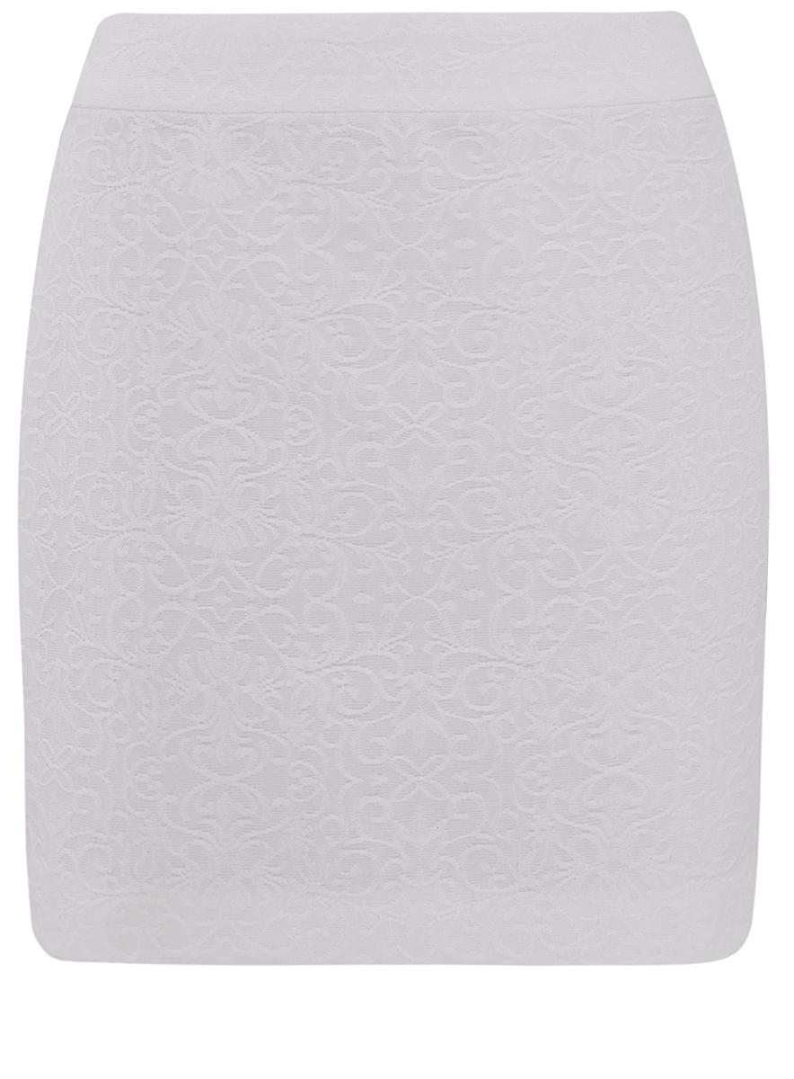 Юбка11601179-4/42591/1200NУкороченная юбка прямого покроя выполнена из высококачественного фактурного материала. Сзади модель застегивается на потайную застежку-молнию.