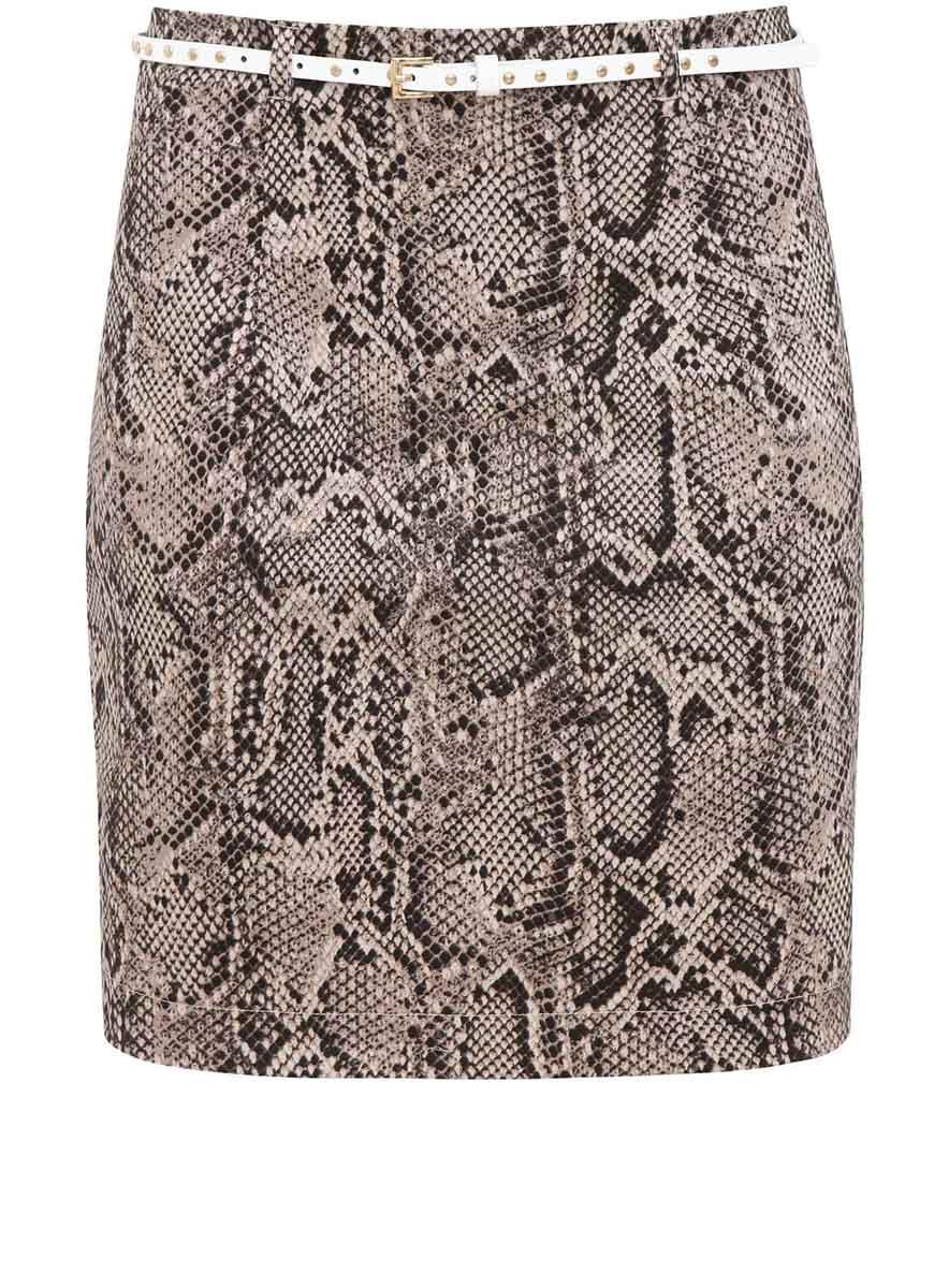 Юбка11601198/15889/2520AСтильная юбка выполнена из эластичного хлопка. Сзади модель застегивается на потайную застежку-молнию, имеются шлевки для ремня. В комплект с юбкой входит тонкий ремешок из искусственной кожи.